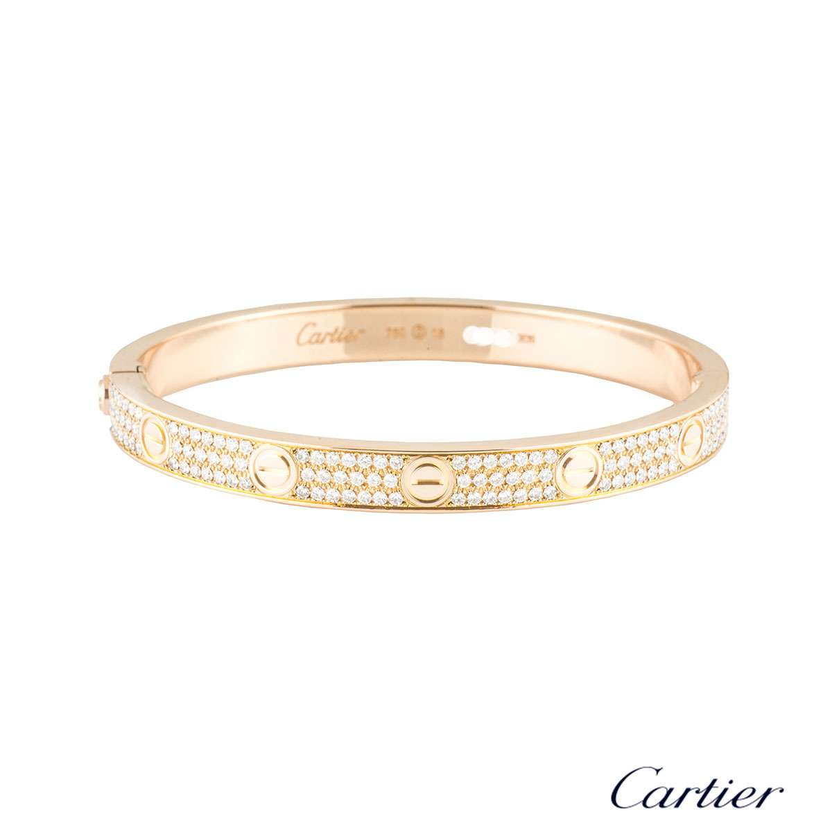 cartier bracelet sizes cartier bracelet size 18 n6036918 rich diamonds of 9040